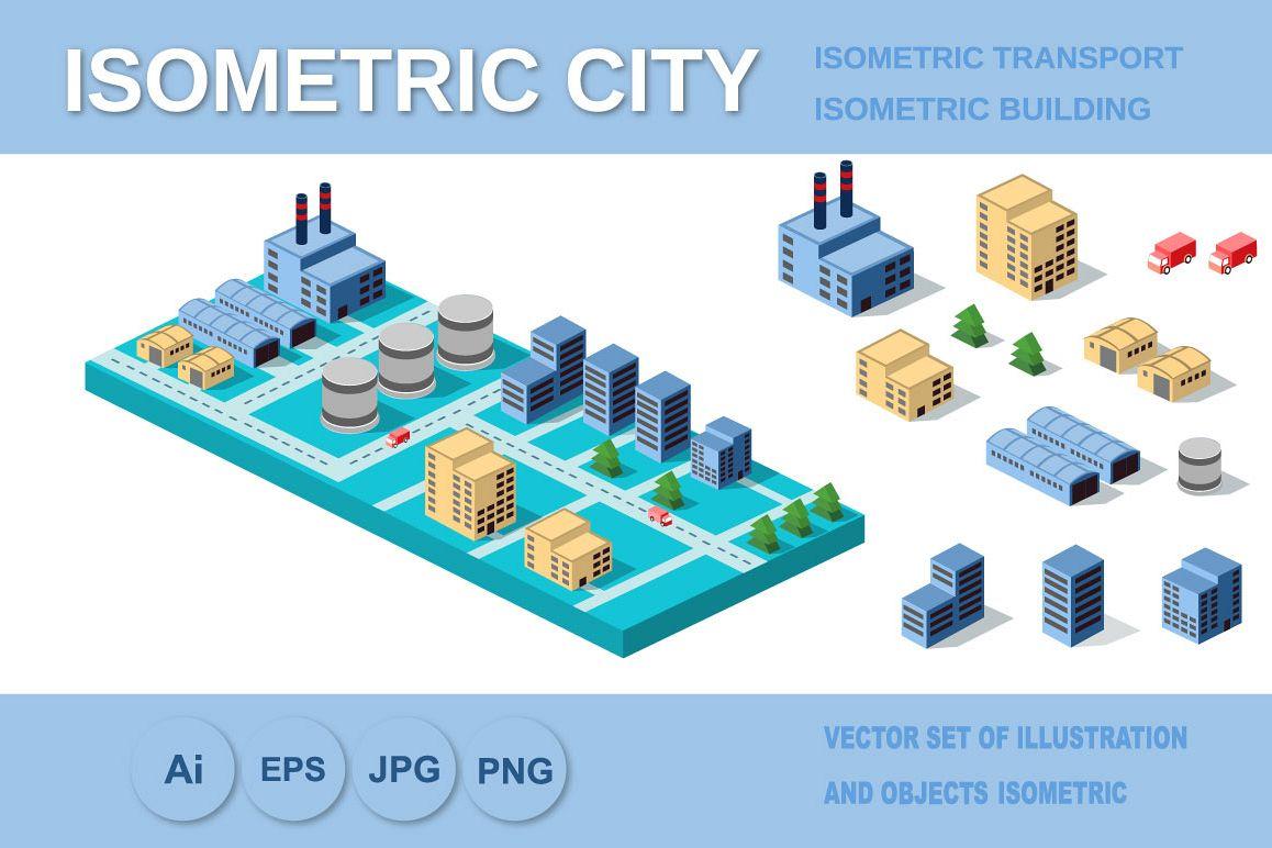 Industrial buildings, factories and boilers
