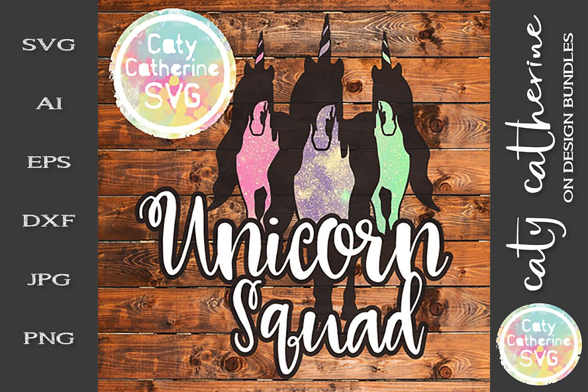 Unicorn Squad SVG Cut File Friendship Goals example image 1