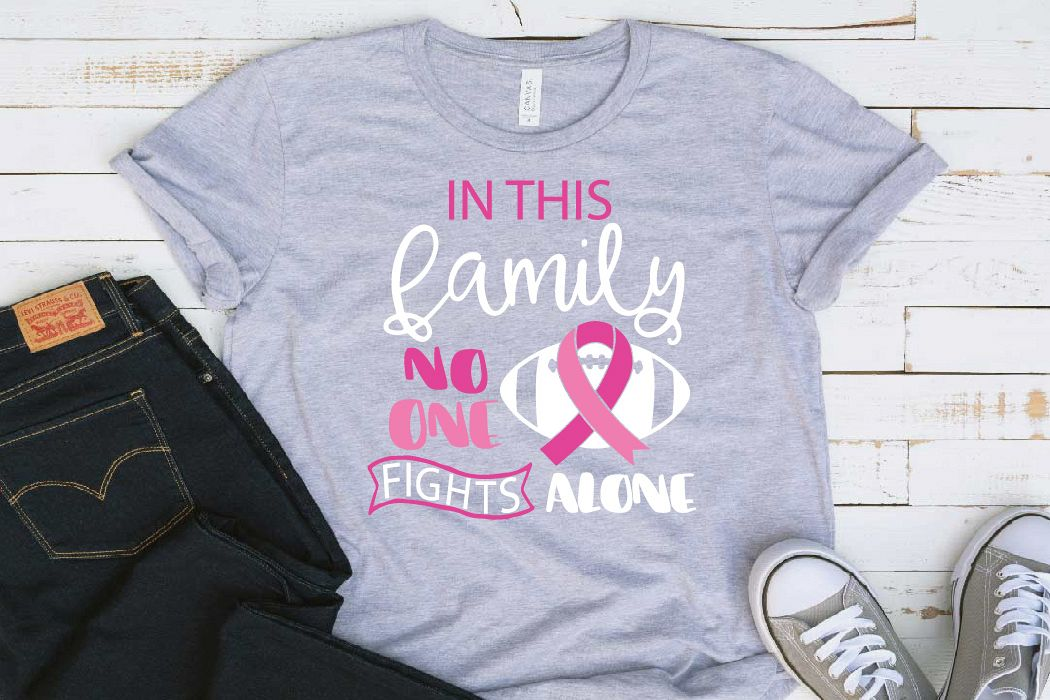In this family nobody fights alone Breast Cancer svg 1521s example image 1