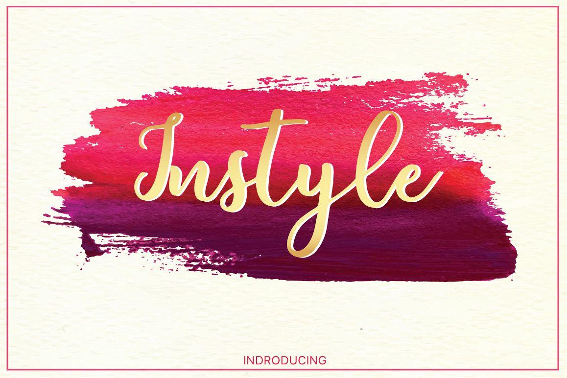 Instyle brush font example image 1