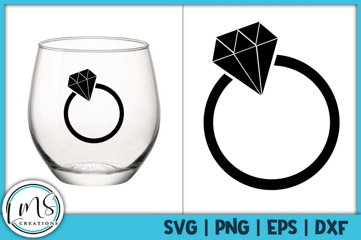 Wedding Ring SVG, PNG, EPS, DXF example image 1