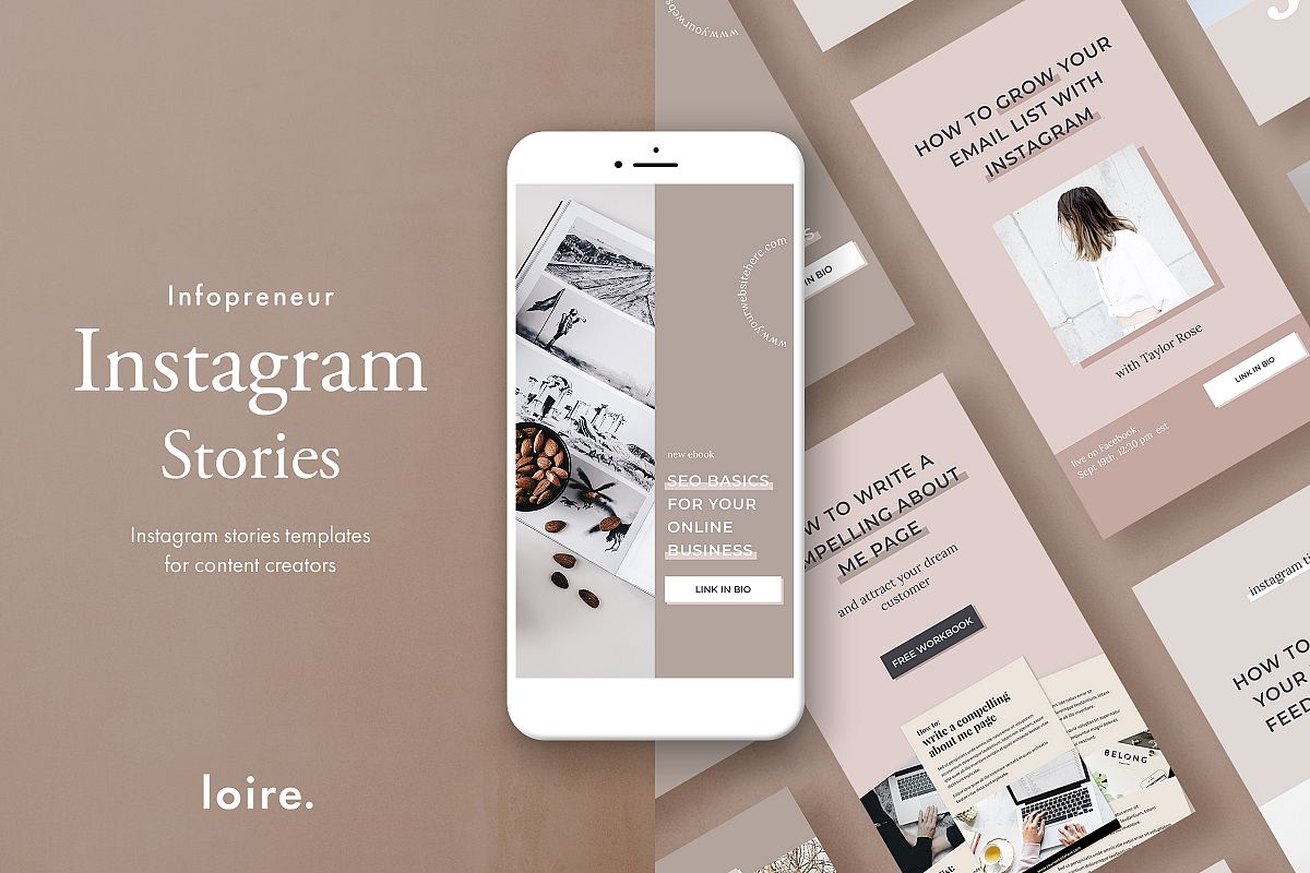 Instagram stories template pack for bloggers example image 1