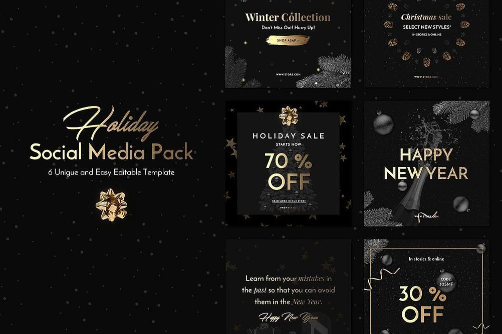 Holiday Social Media Pack vol.1 example image 1