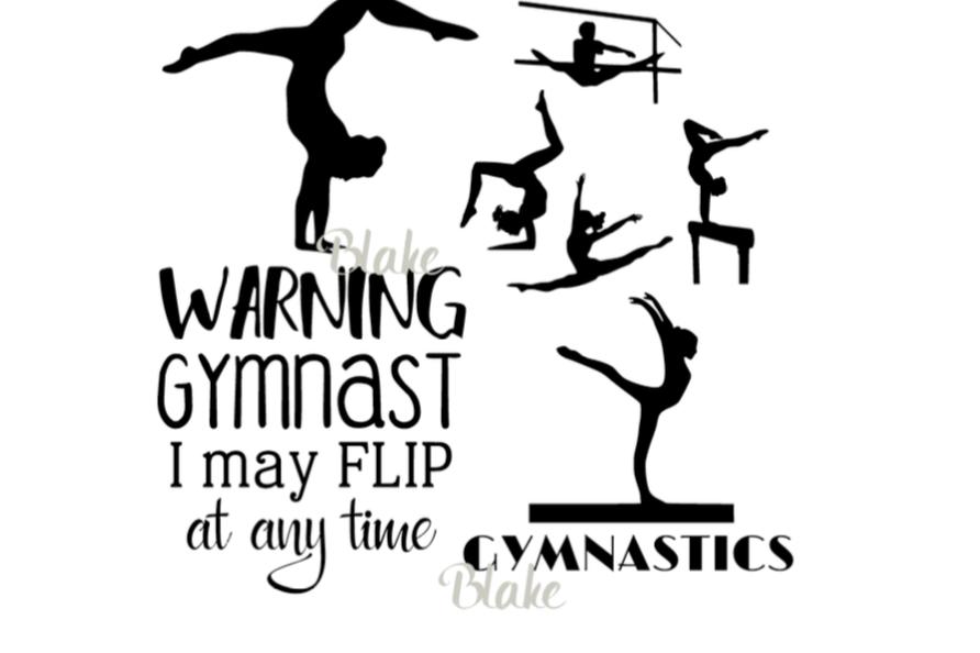 gymnastics quote svg female gymnast collection bundle cut file for