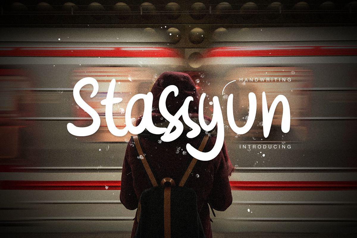 Stassyun Handwriting Font example image 1