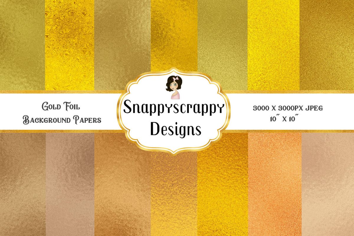 Gold Foil Background Papers example image 1