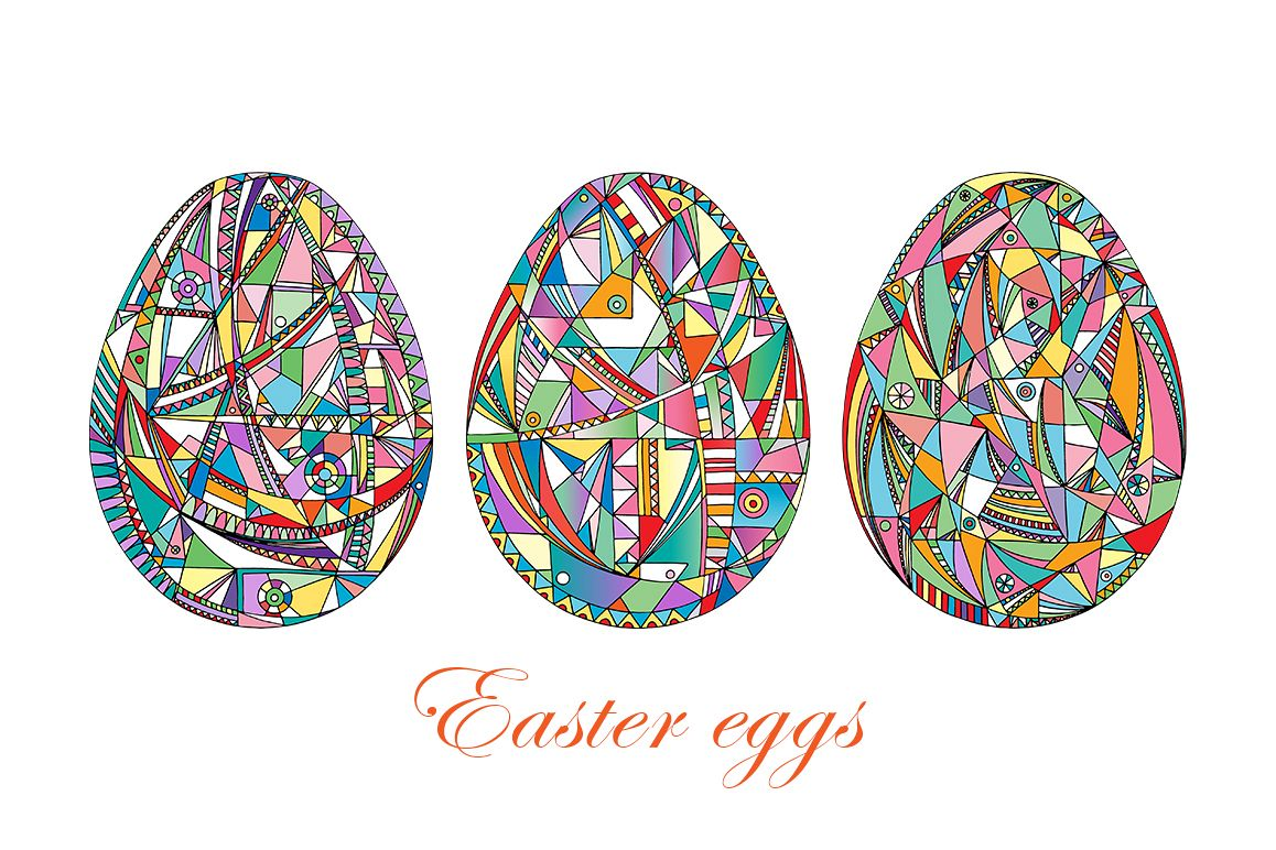 Easter eggs set. example image 1