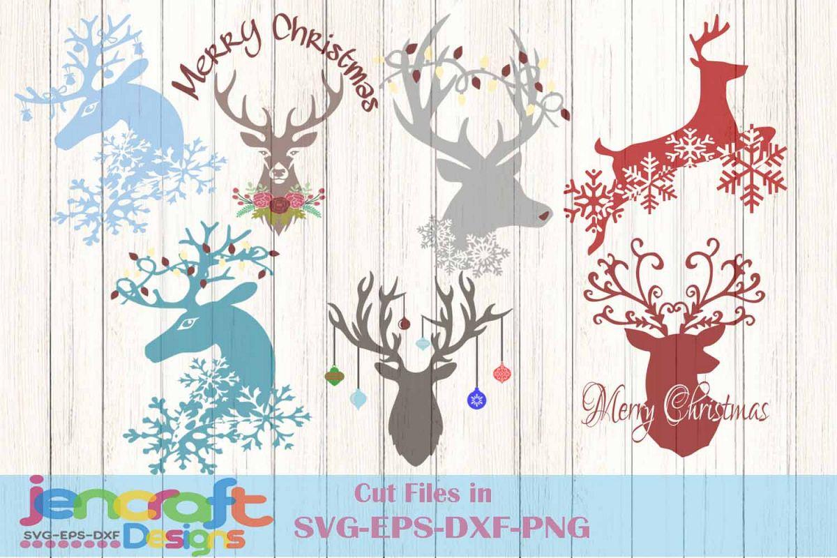 Free Christmas Lights Svg.Christmas Svg Reindeer Svg Bundle Deer Lights Snowflake
