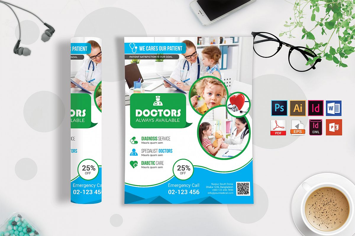 Doctor & Medical Flyer. Vol-06 example image 1