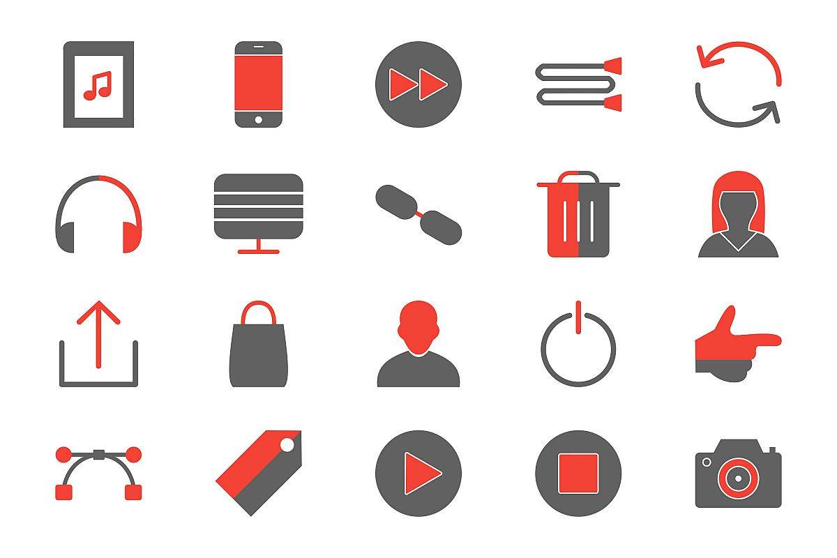 Set Of Multimedia Icons example image 1