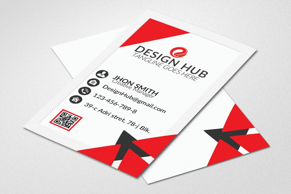 Vertical Business Card Template example image 1