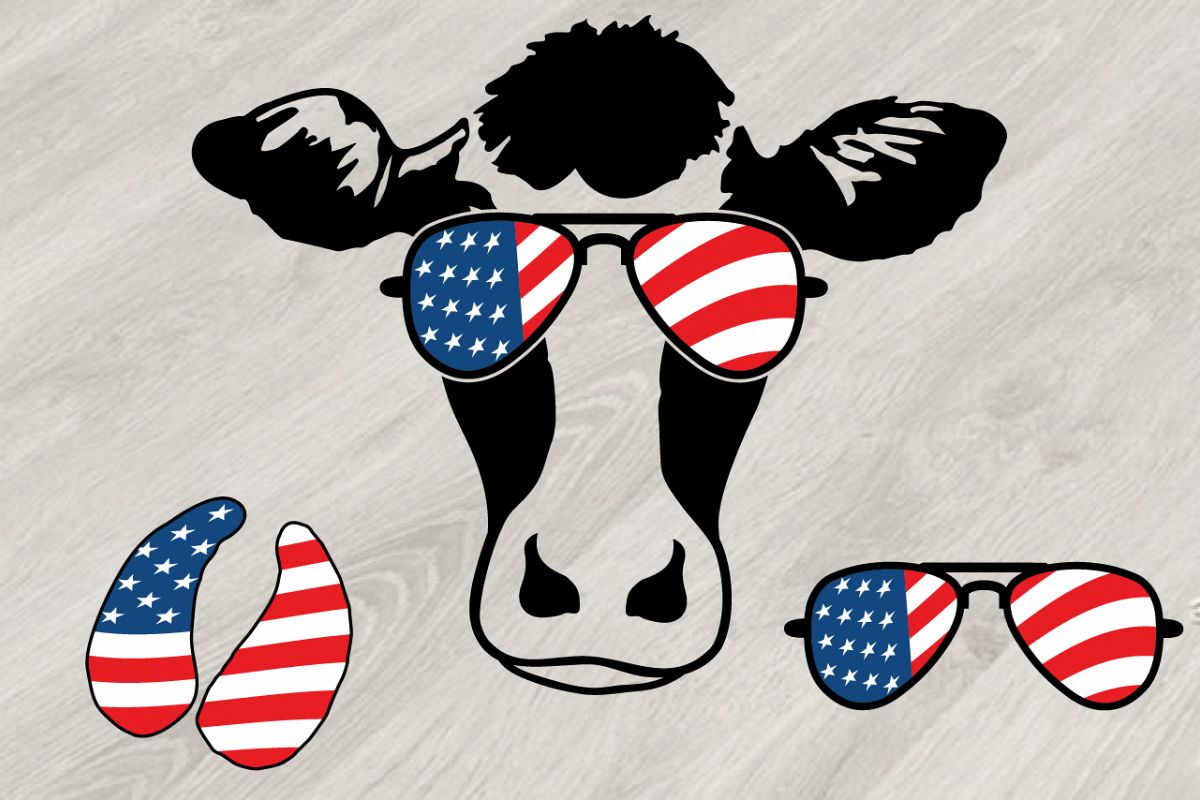 1ce5c0dd148 Cow usa flag glasses cowboy western july example image jpg 1200x800 Flag  glasses
