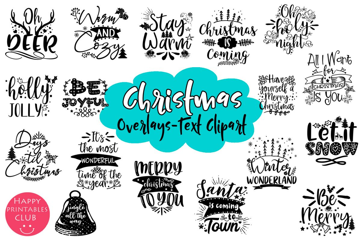 Christmas Holidays Clipart.Christmas Quotes Overlays Text Overlays Holiday Clipart