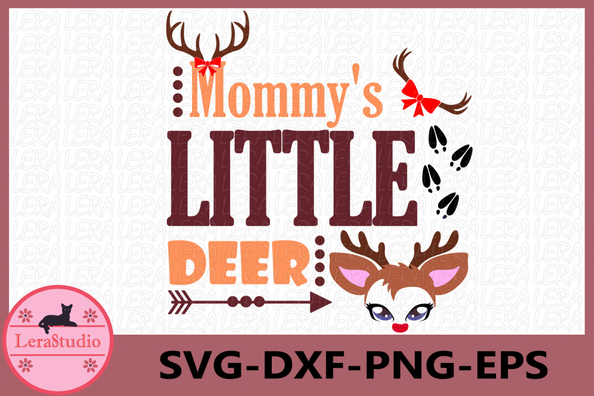 Mommy's Little Deer svg, Deer svg, Baby svg, Little Deer SVG example image 1