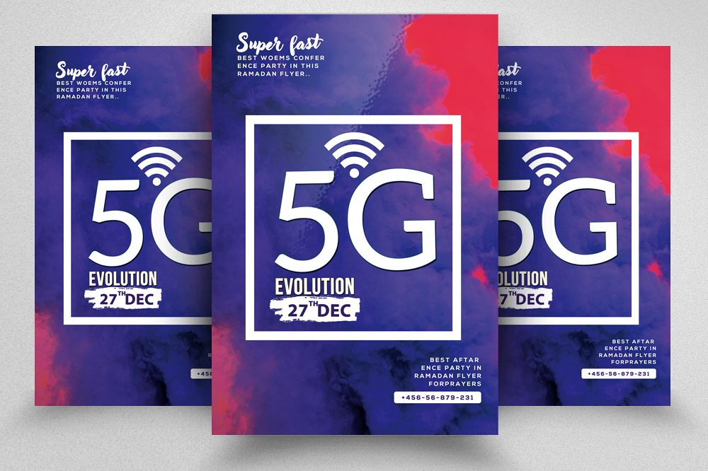 5G Coming Soon Flyer Template example image 1