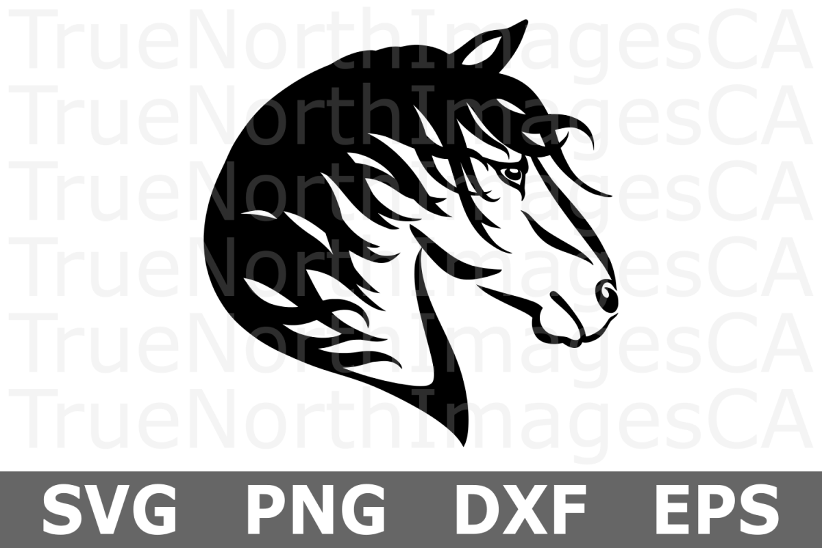 Tribal Horse - An Animal SVG Cut File example image 1