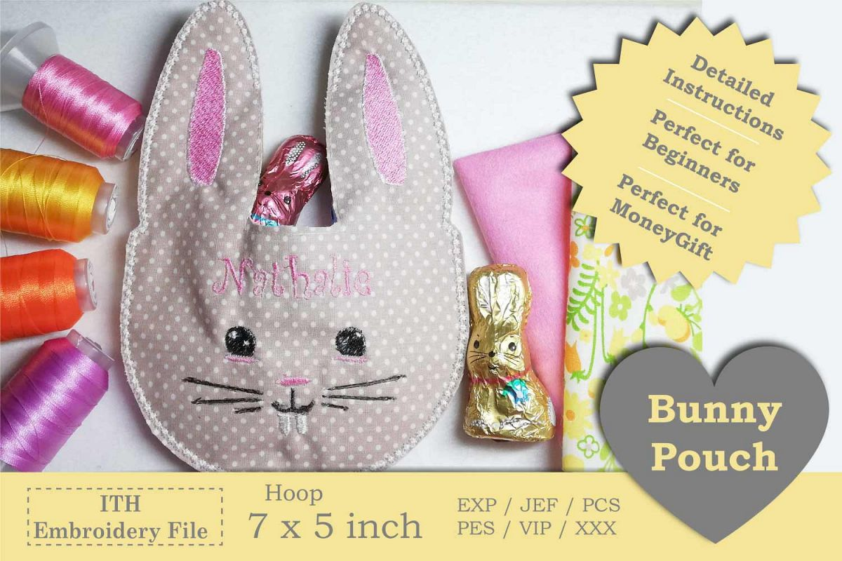 ITH - Bunny Pouch - Great idea for last minute gift example image 1