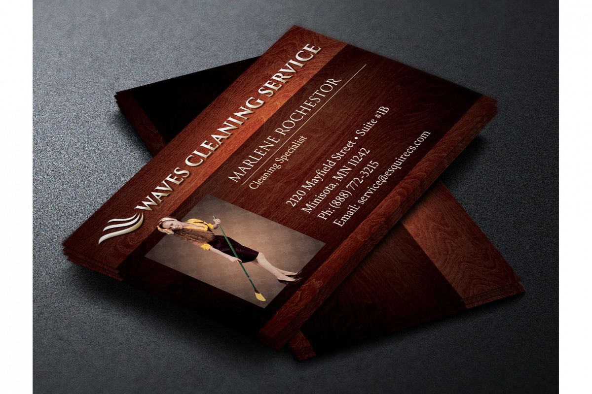 Elegant cleaning service business card design bundles elegant cleaning service business card reheart Image collections
