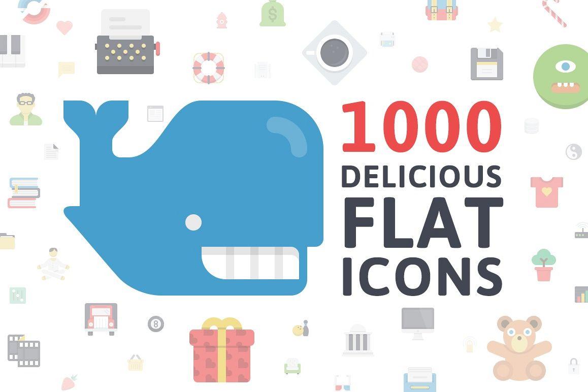 Flatilicious Icons example image 1