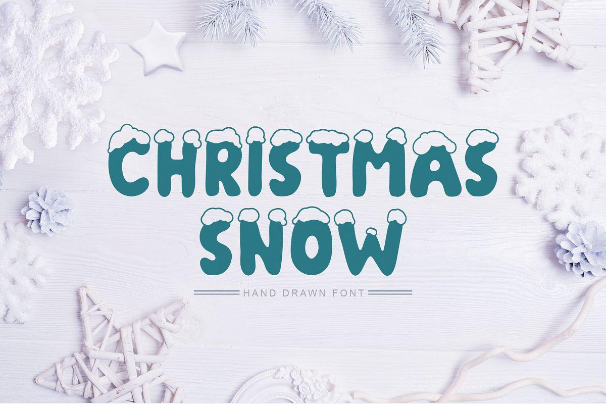 Christmas Snow Hand Drawn Font example image 1