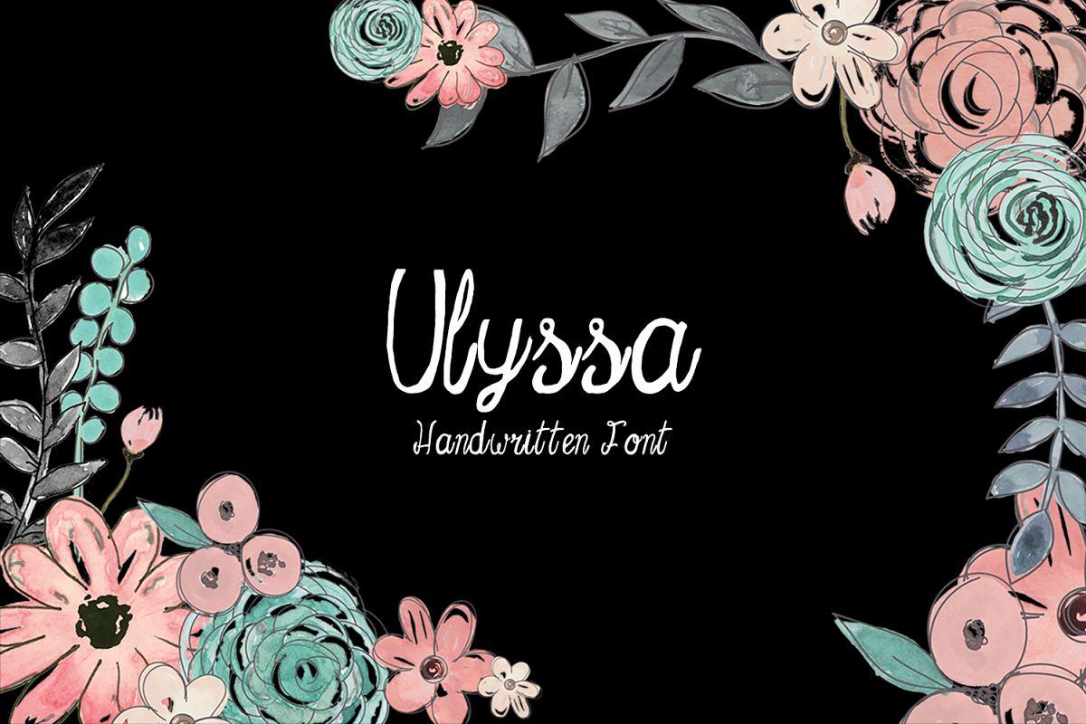 Ulyssa Handwritten Font + Bonus example image 1