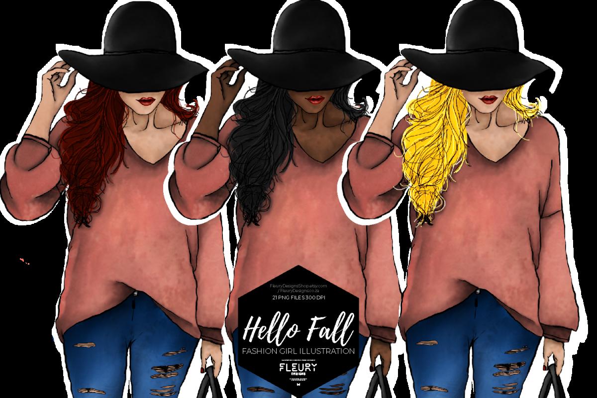 Hello Fall Fashion Girl Collection example image 1