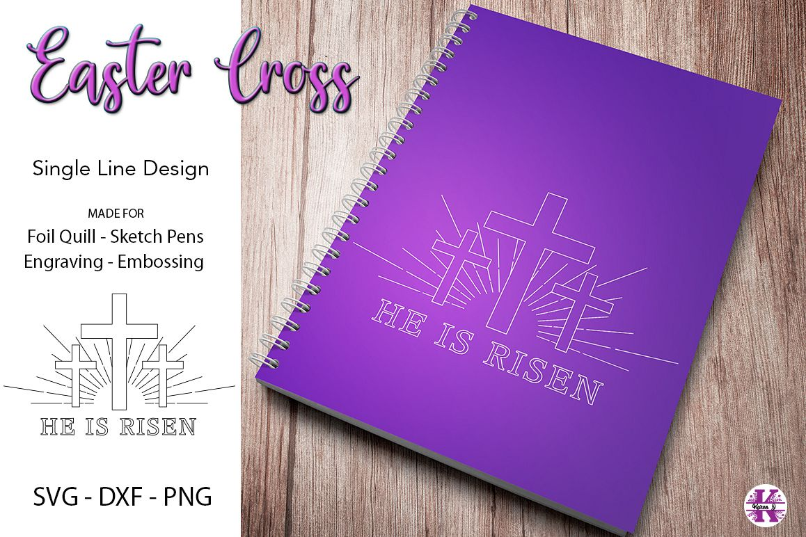 Easter Cross SVG for Foil Quill|Sketch Pen|Engraving example image 1