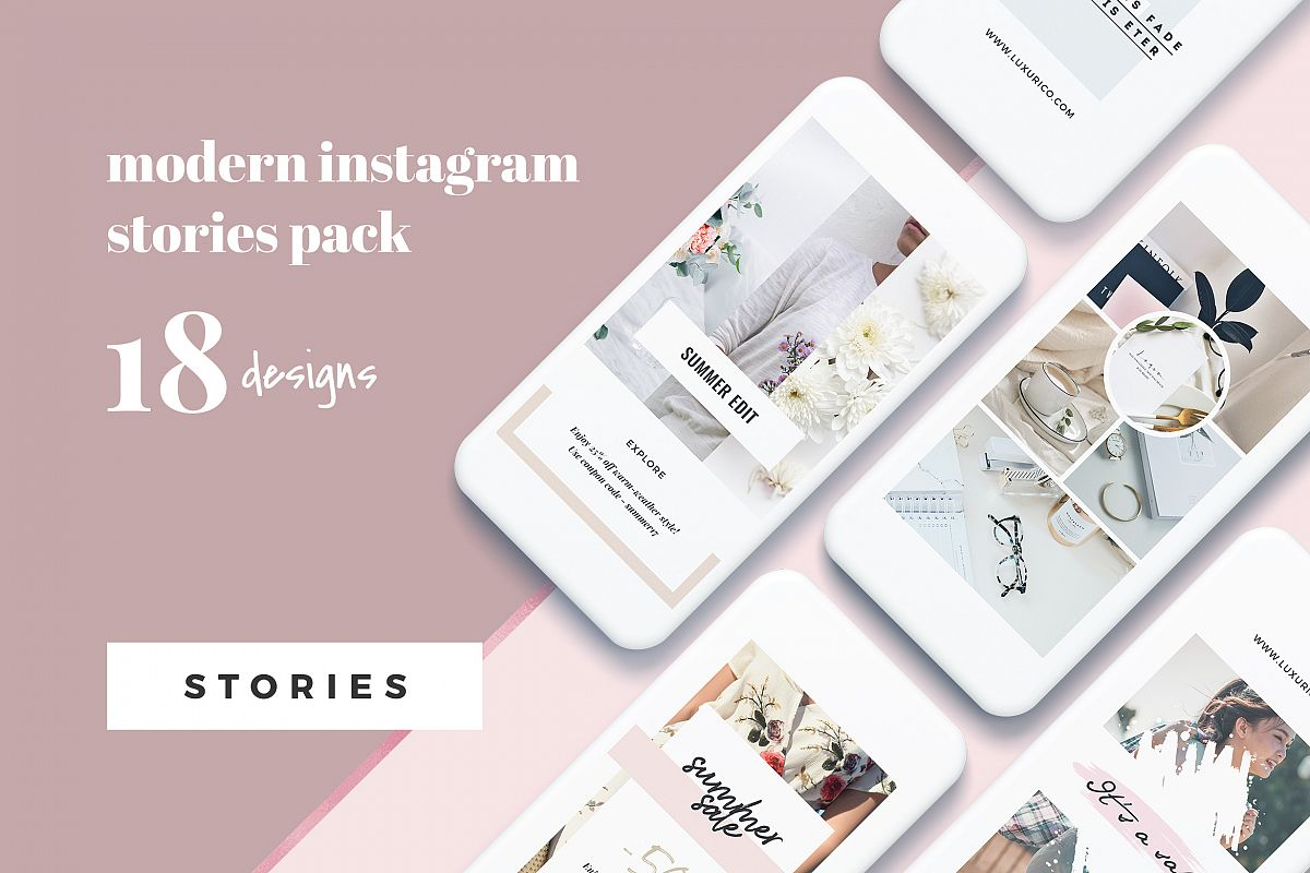Modern Instagram Stories Pack example image 1