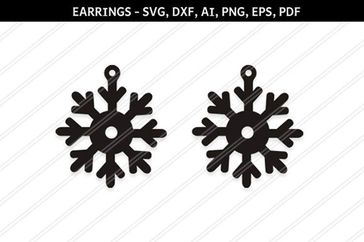 Christmas Snowflakes svg,Snow flakes svg,Snowflakes earrings example image 1