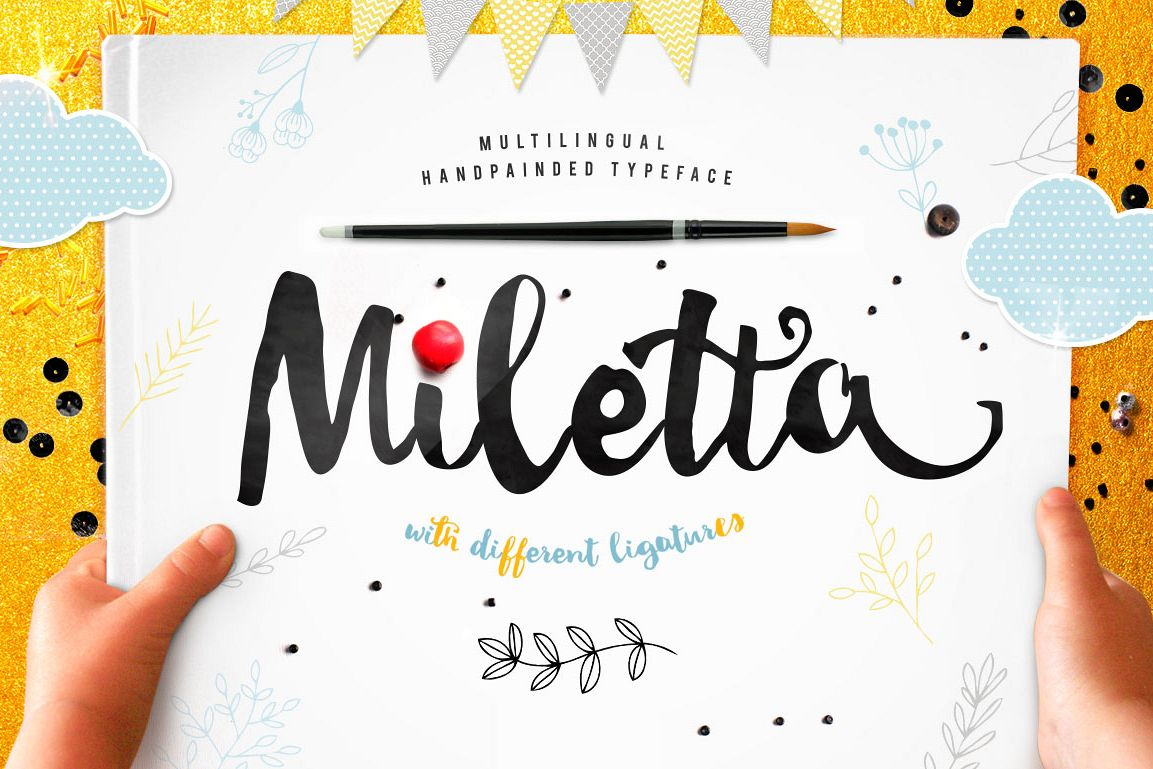 Miletta typeface with ligatures example image 1