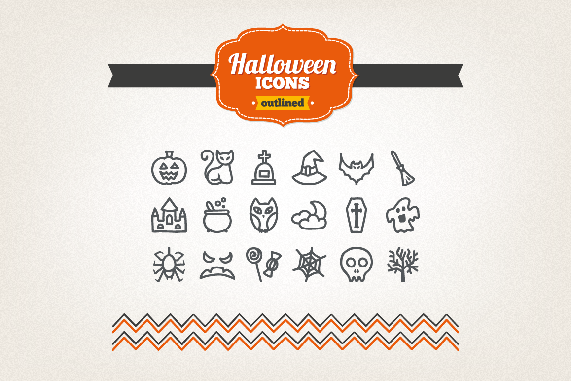 Hand Drawn Halloween Icons example image 1
