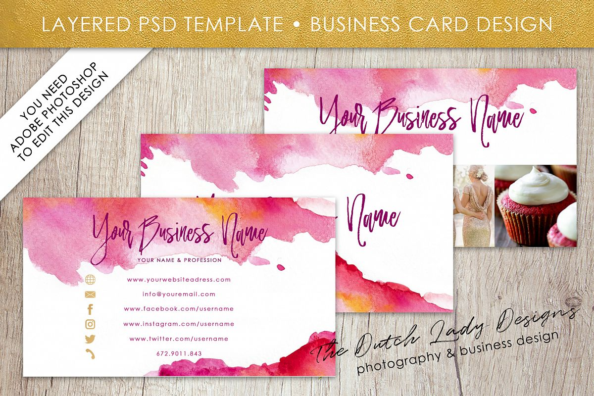 Business card template for adobe photoshop layered psd template business card template for adobe photoshop layered psd template design 4 example image wajeb Gallery