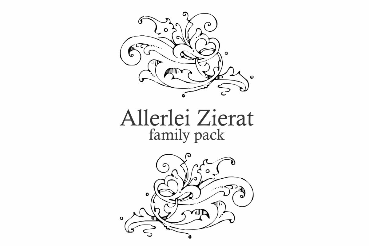 Allerlei Zierat (PACK 5 FONTS) example image 1