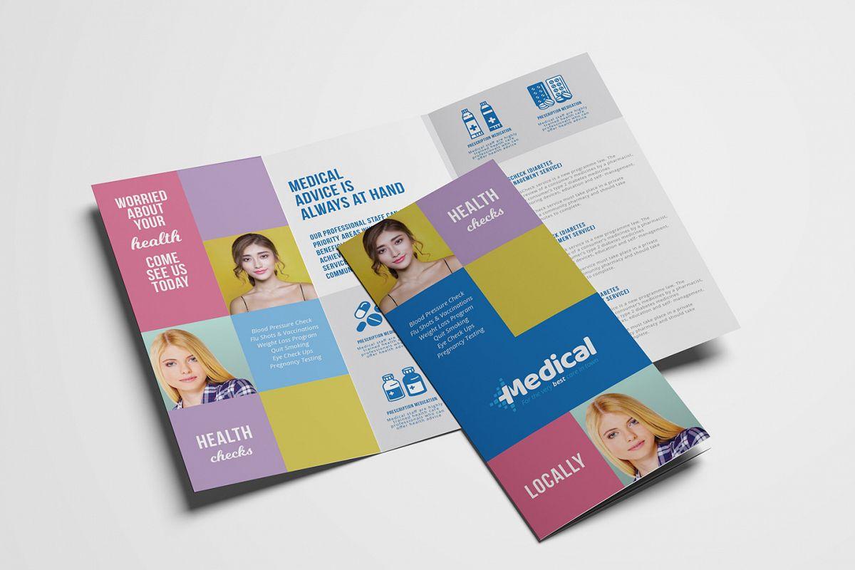 Modern Medical Tri-Fold Brochure Template example image 1
