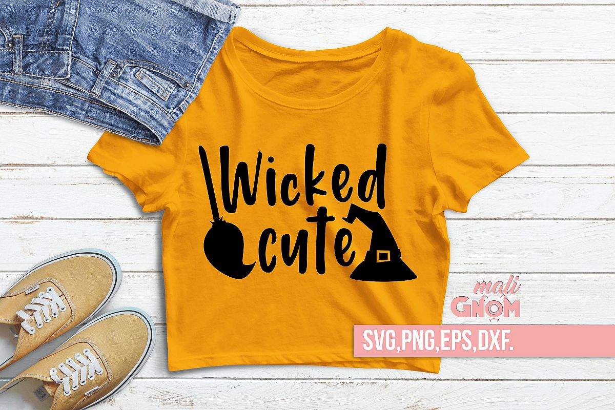 Wicked Cute SVG, Halloween SVG file, Trick or Treat Bag SVG example image 1