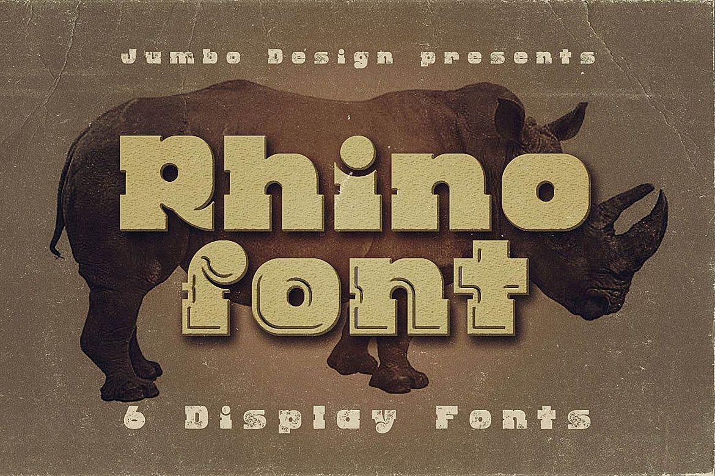 Rhino - Display Font example image 1