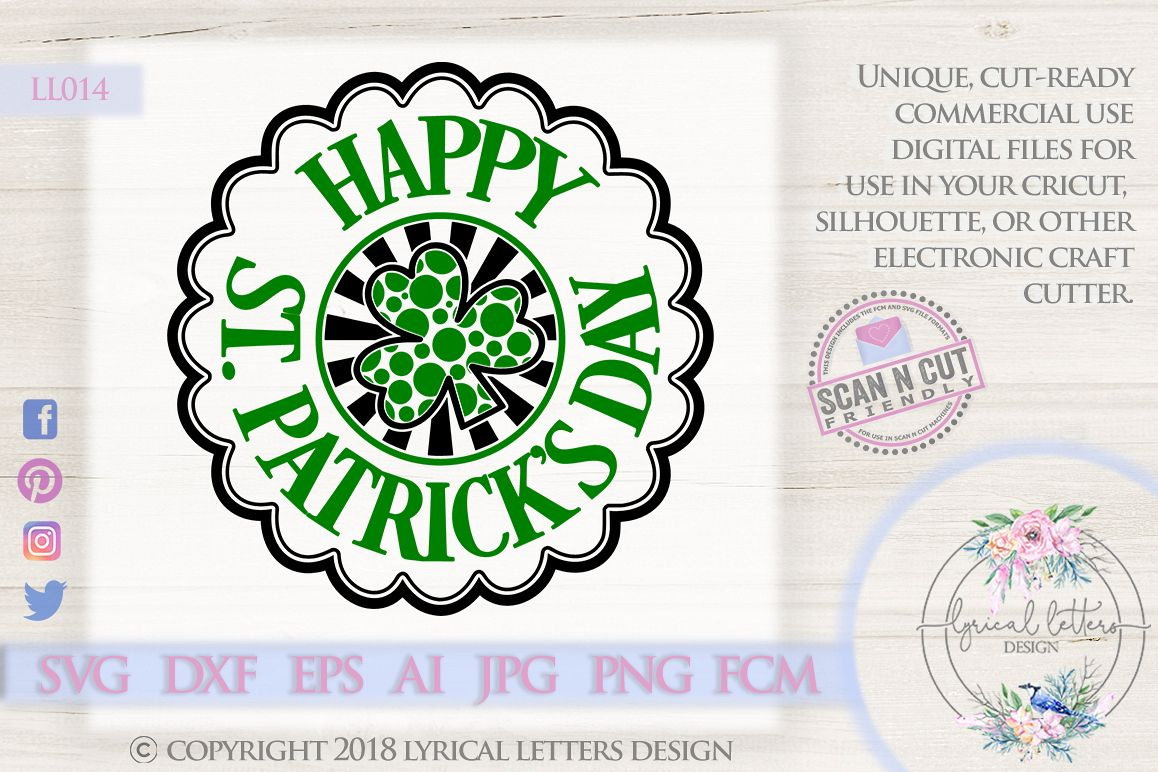 Happy St. Patrick's Day SVG DXF Cut File LL014 example image 1