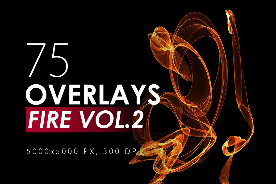 75 Abstract Fire Overlays Vol. 2 example image 1