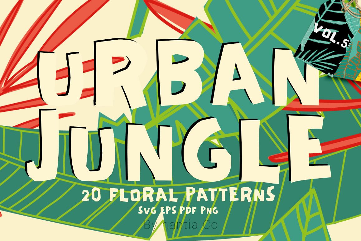 20 Urban Jungle Patterns Vol.5 example image 1