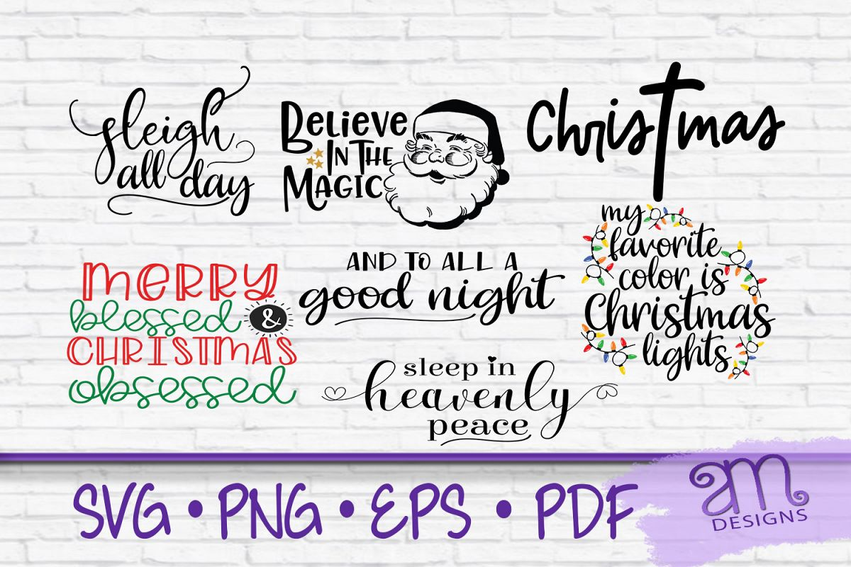 Christmas Svg Bundle, Christmas Bundle, Svg Bundle, Merry example image 1