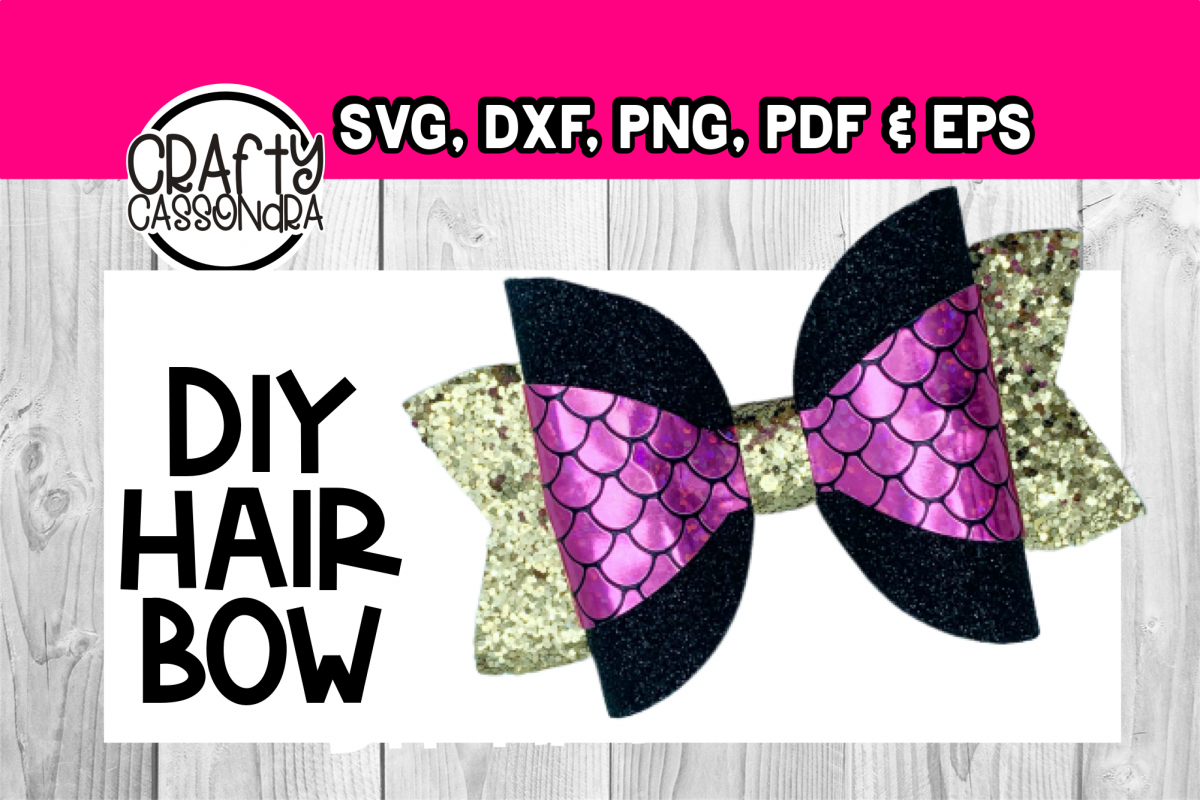 Hair Bow Svg Large Wrap File Diy Hair Bows