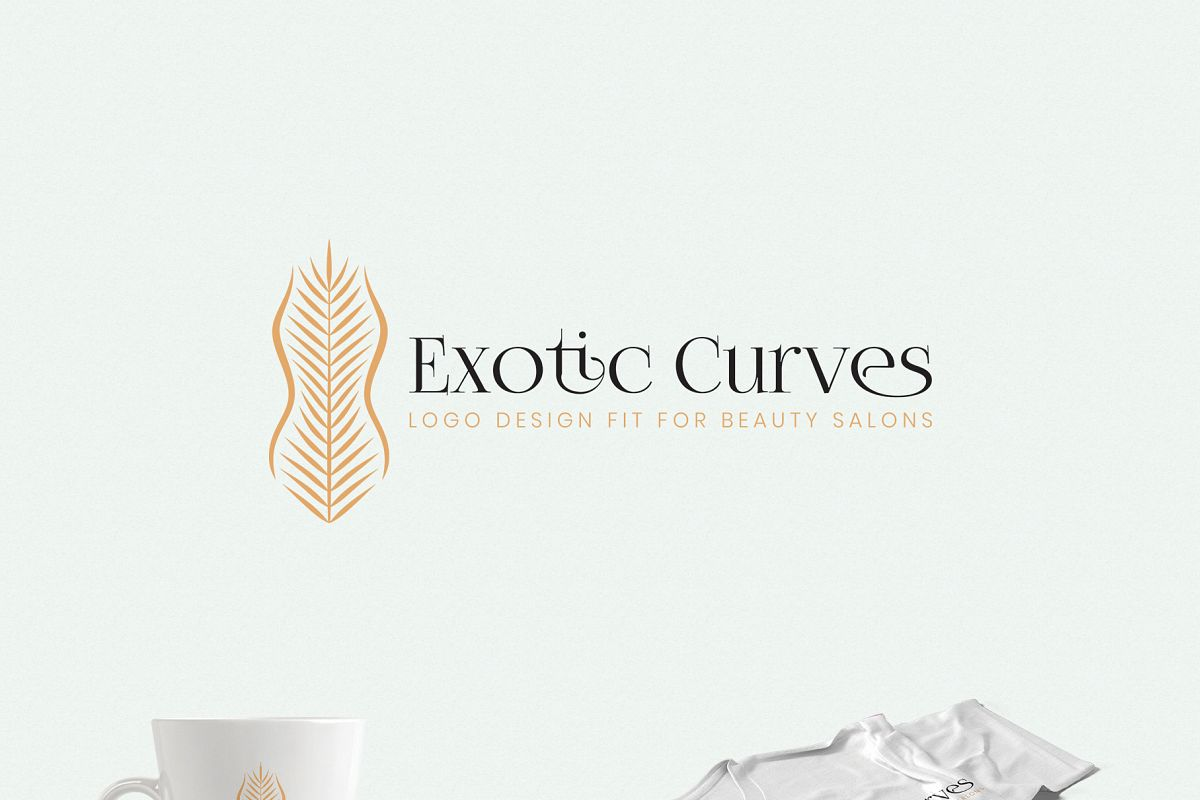 Exotic Curves - a Beauty Salon Logo example image 1
