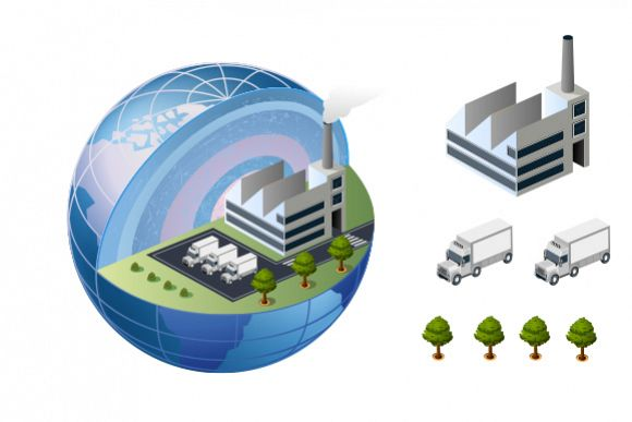 Factory vector Illustrations example image 1