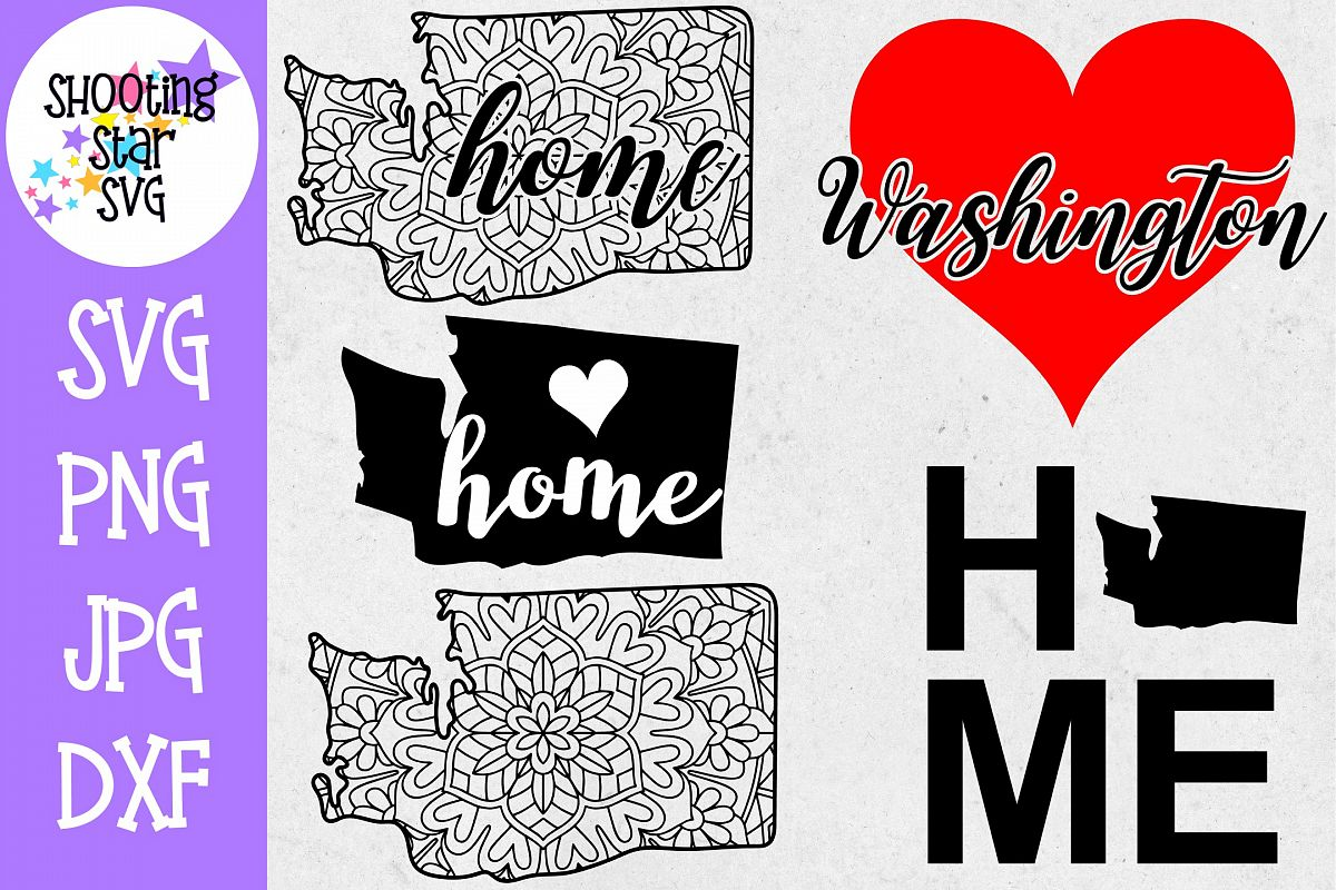 Washington US State SVG Decal Bundle - 50 States SVG example image 1