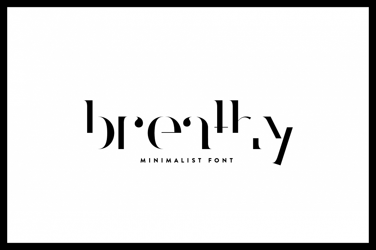 Breathy - Font Family example image 1