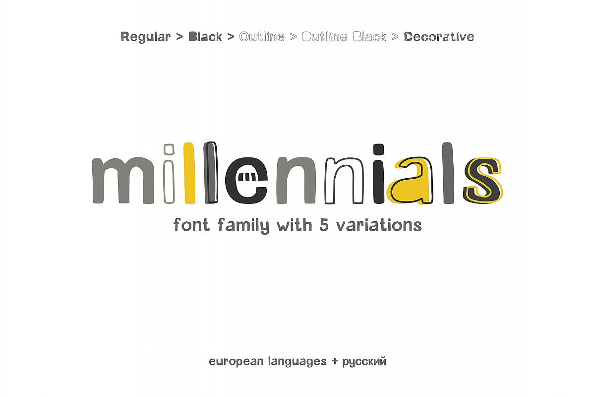 Millennials Font Family example image 1