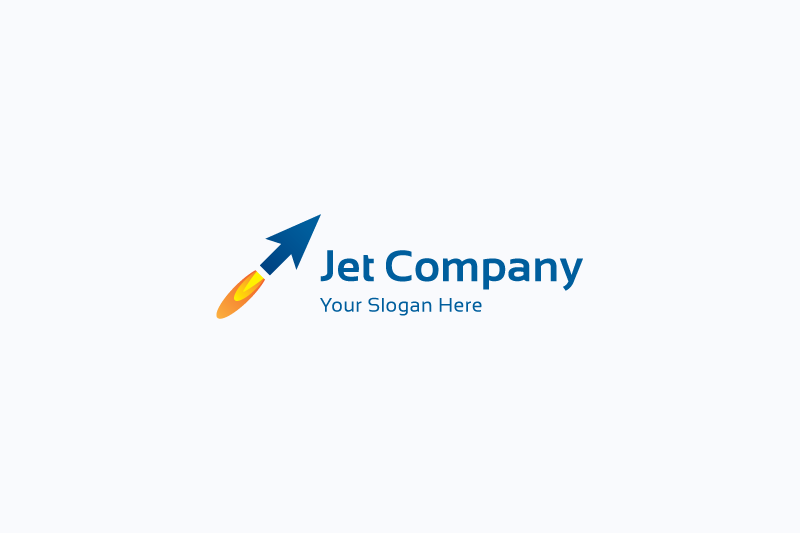 Jet arrow logo example image 1
