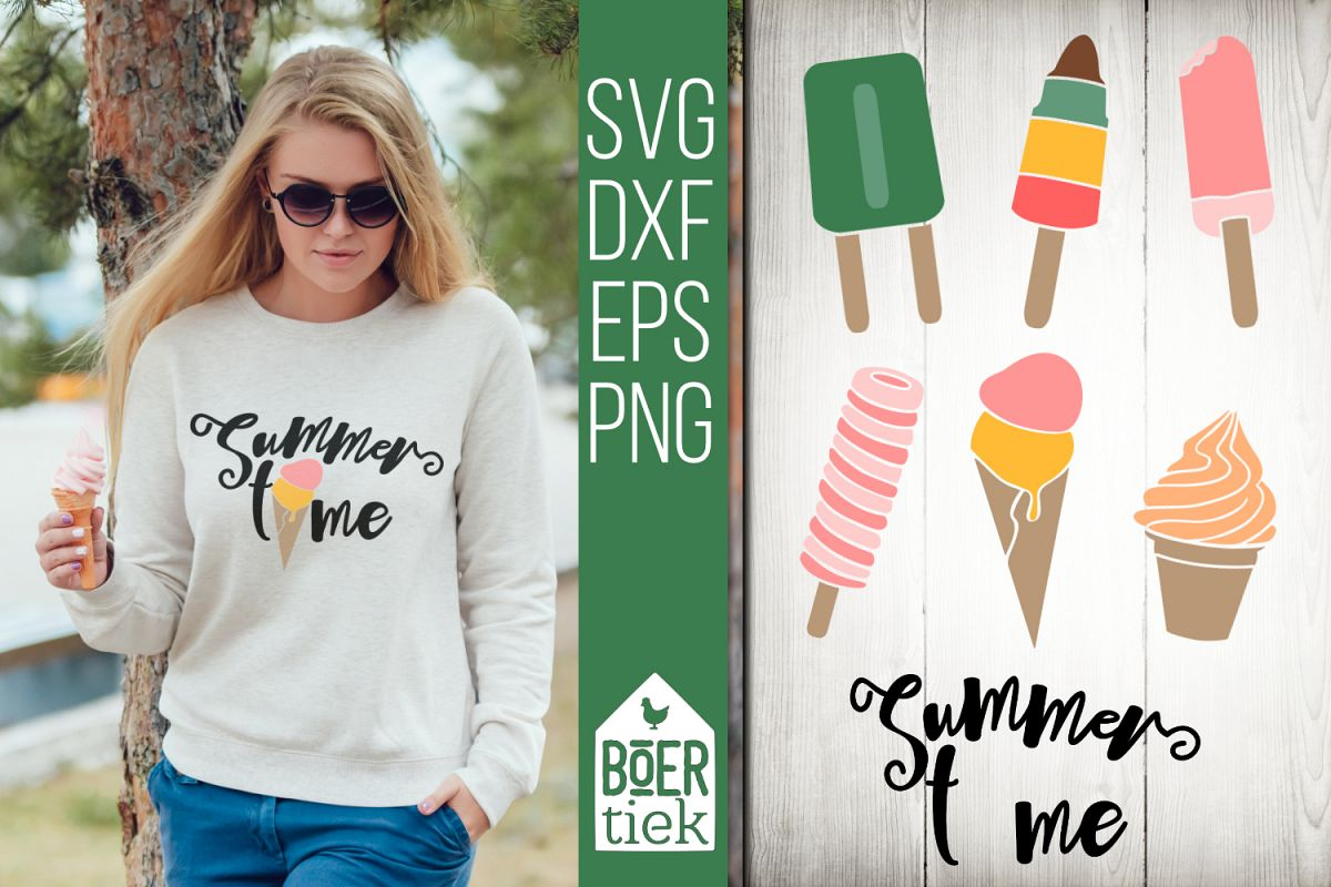 Ice cream, summer time, cutting files example image 1