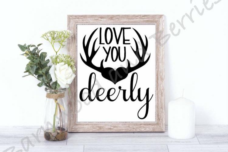 Love You Deerly SVG example image 1