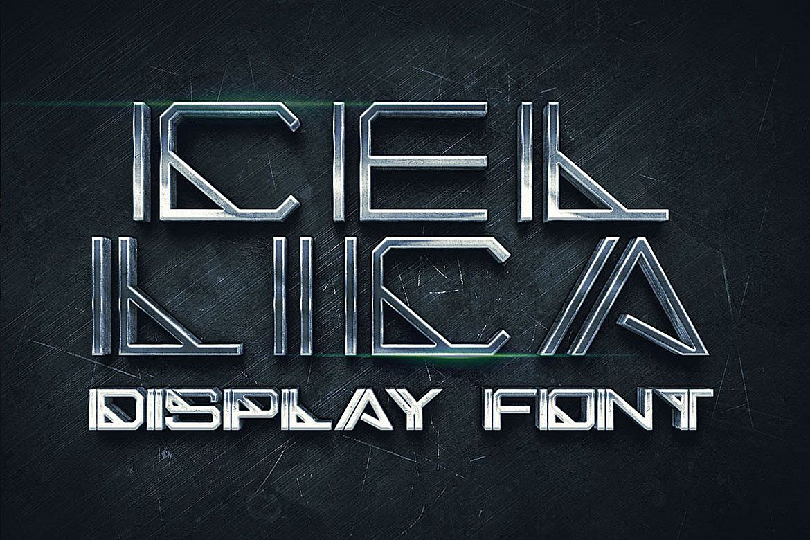 Cellica - Display Font example image 1